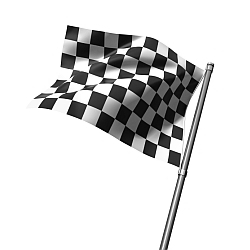 Finish flag isolated on white